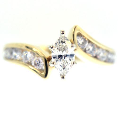 Marquise Diamond Engagement Ring | EBay