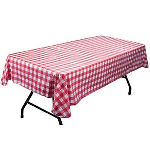 Red U0026 White Vinyl Picnic Table Cloth With Flannel Backing Party Supplies