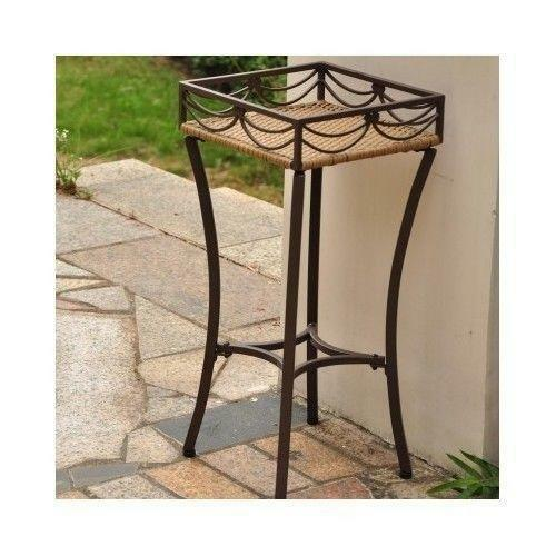 Wicker Plant Stand | EBay