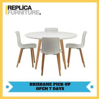 BRAND NEW   Replica Halo Dining Table And Hal Chairs Package Part 97