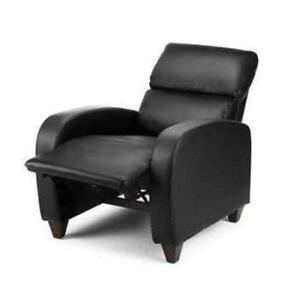 Ordinaire Black Leather Recliner Chairs
