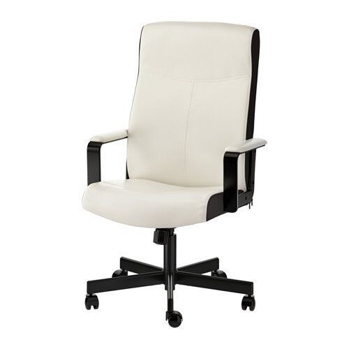 Ikea Millberget White Adjustable Swivel Chair