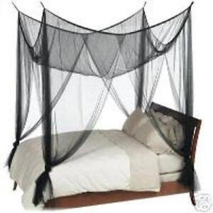 Black Queen canopy Beds  sc 1 st  eBay & Queen Canopy Bed   eBay