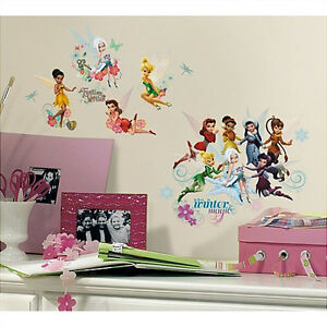 DISNEY FAIRIES wall stickers 54 decals Secret of the Wings Tinkerbell  PERIWINKLE