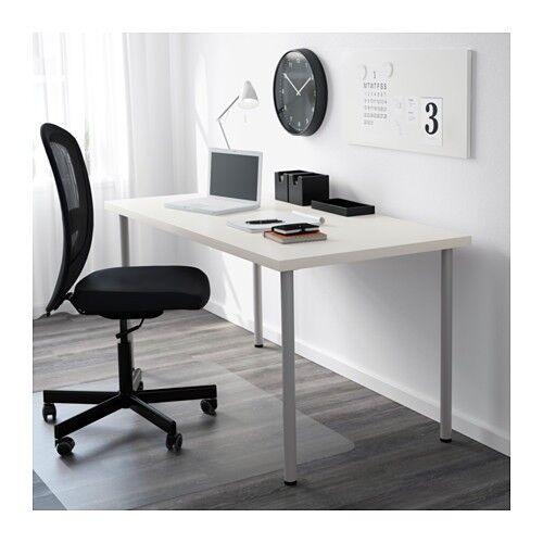Office Desks IKEA LINNMON ADILS 2 X Long 200cm / 3 X Shorter 120cm White  Modern