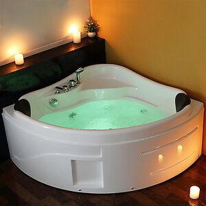 Whirlpool Bath Shower Spa Jacuzzis Massage Corner 2 Person Double Bathtub  1300mm