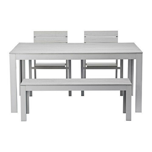 IKEA Falster Set With Table, Bench U0026 2 Chairs (Grey)