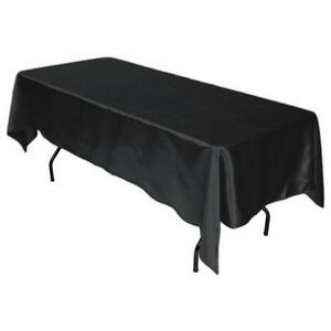 Black Satin Tablecloths