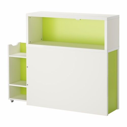 Incroyable Ikea Flaxa Headboard With Storage Compartment Single Bed In