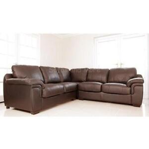 Ordinaire Used Leather Corner Sofas