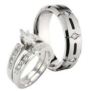 His And Hers Wedding Ring Sets
