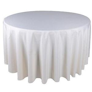 Good 120 Round Ivory Tablecloths