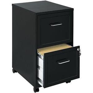 Amazing 2 Drawer File Cabinet Black