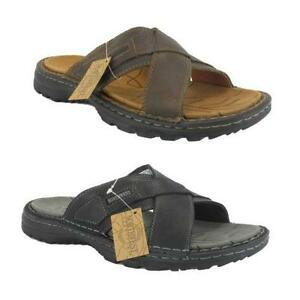 Mens Leather Mules Sandals