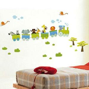 Jungle Zoo Animal Safari Train Wall Stickers Decal Decor Kids Nursery  Playroom