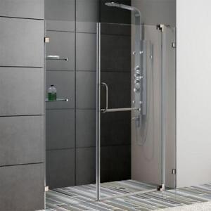 clear glass shower door