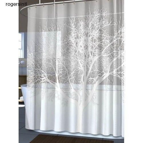 Shower Curtain   Fabric, Extra Long, Unique, Hookless | EBay