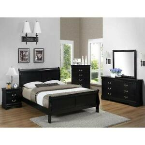 Superb Black King Bedroom Set