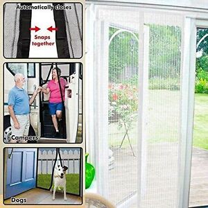 Charming Starmo White Magic Curtain Door Mesh Magnetic Flying Bug Insect Screen Net
