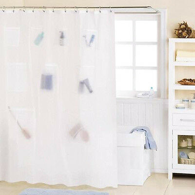 peva vinyl shower curtain liner with mesh pockets assorted colors peva vinyl shower curtain