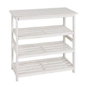 white wooden shoe rack