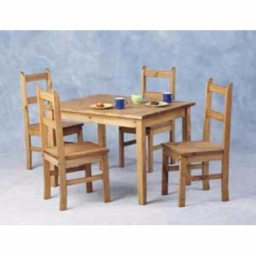 new solid cheap corona mexican pine compact dining table u0026 4 chairs 145 in stock