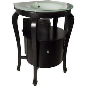Black Pedestal Sink