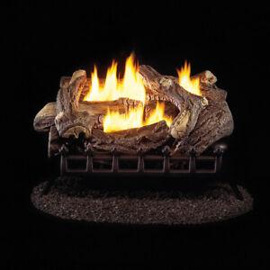 ProCom Ventless Propane Gas Log Set   24in., 34,000 BTU, Millivolt Control