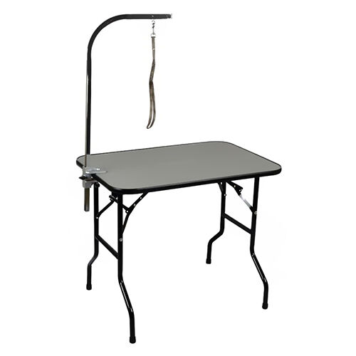 this affordable table from precision pet boasts strong durable that is safe for dogs and easy to clean the heavyduty legs are strong enough