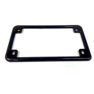 Motorcycle License Plate Frame Black  sc 1 st  eBay : motorcycle paper plates - pezcame.com