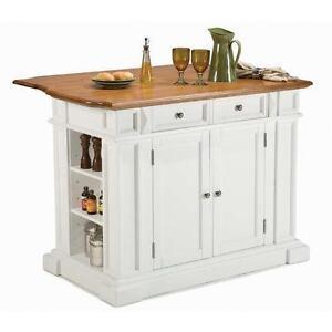 Bon Kitchen Island Cart White