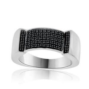 Menu0027s Black Diamond Wedding Ring