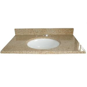 Granite Vanity Top 31 In X 22 In  Beige