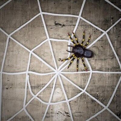 15m giant halloween horror party white rope spider web outdoor decoration prop