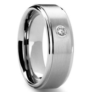 Mens Silver Diamond Ring