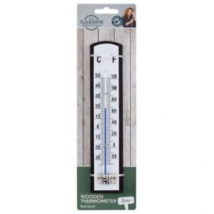 Wooden Garden Thermometer Outside Outdoor Fahrenheit U0026 Celsius Charlie  Dimmock