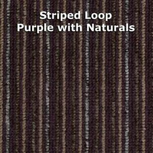 purple striped carpet