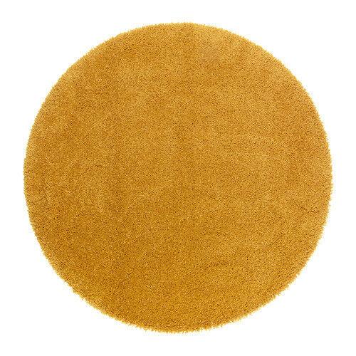 Yellow Round Rug (IKEA Adum Rug) New, Never Used