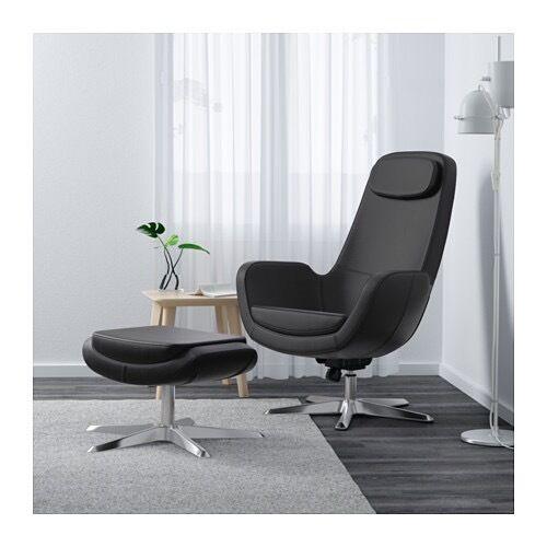 ikea arvika swivel armchair foot stool