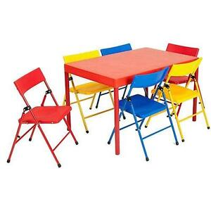 kid s folding table chairs