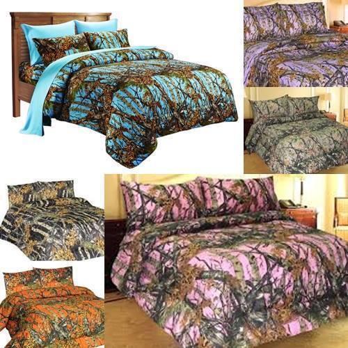 camouflage bedding bedding sheet set premium microfiber camo 4 piece sizes camouflage woodland new - Camouflage Bedding