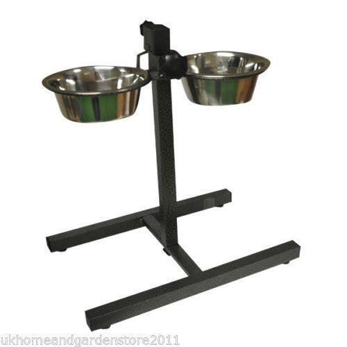 adjustable dog bowl stand