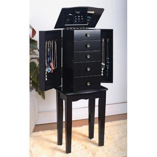black jewelry armoires - Large Jewelry Armoire
