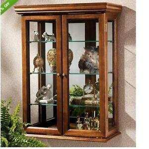 Glass Wall Curio Cabinets