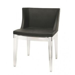 Mademoiselle Chair Black Chair With Arcylic Base  Mademoiselle Chair Replica