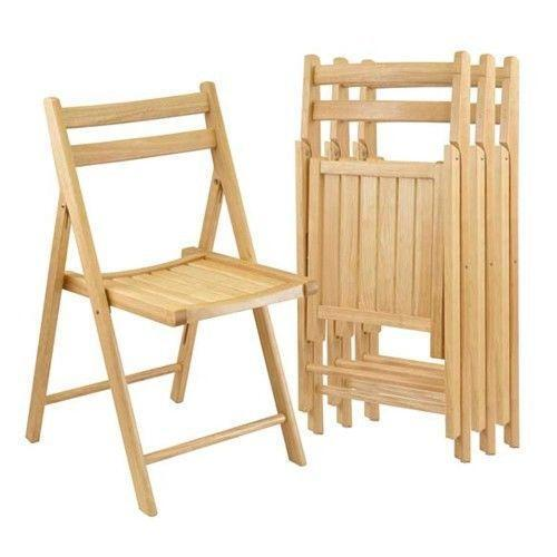 Gentil Wood Folding Chairs | EBay