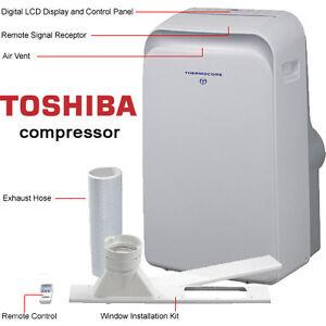 14000 BTU Portable Air Conditioner, Heat Pump U0026 IONIZER / 14,000 BTU Window  Kit