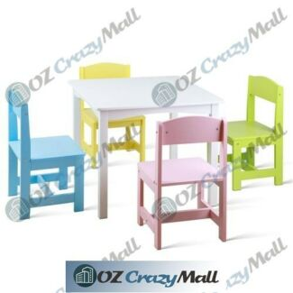 Non Toxic Paint Kids Table 4 Colour Chairs