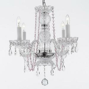pink crystal chandelier