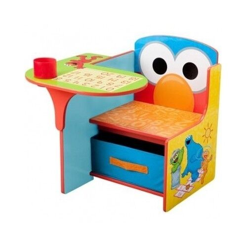 Nice Elmo Desk Chair Kid Toddler Activity Sesame Street Study Table Storage  Furniture